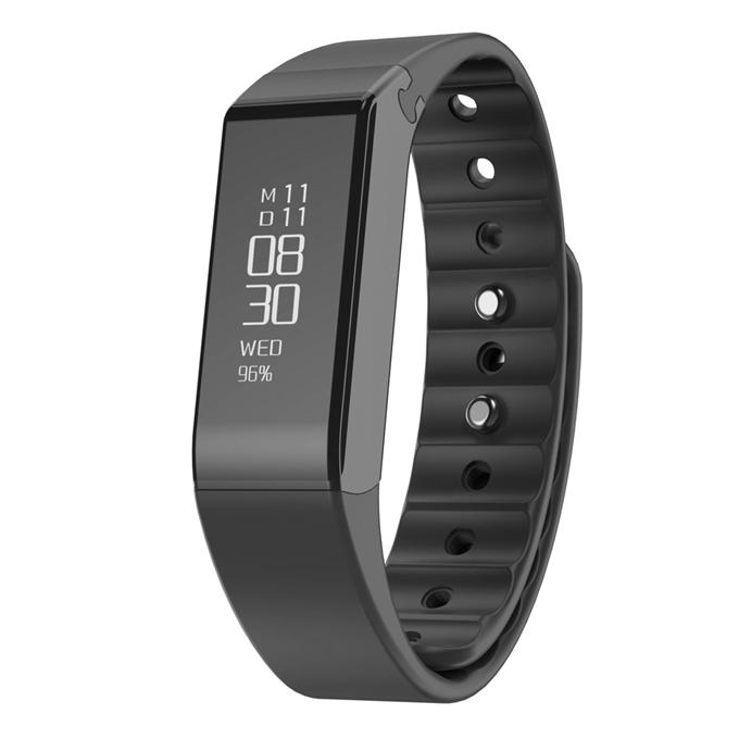Vidonn X6S Smart Bracelet Bluetooth 4.0 IP65 Detachable Dial Wristband Sports Fitness Tracker Sleep Monitor Sync Data - Black