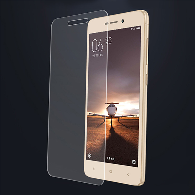 Makibes Toughened Glass 0.33mm Screen Protector Film Cover Arc Edge For Xiaomi Redmi 3/Redmi 3 Pro/Redmi 3S - Transparent Other