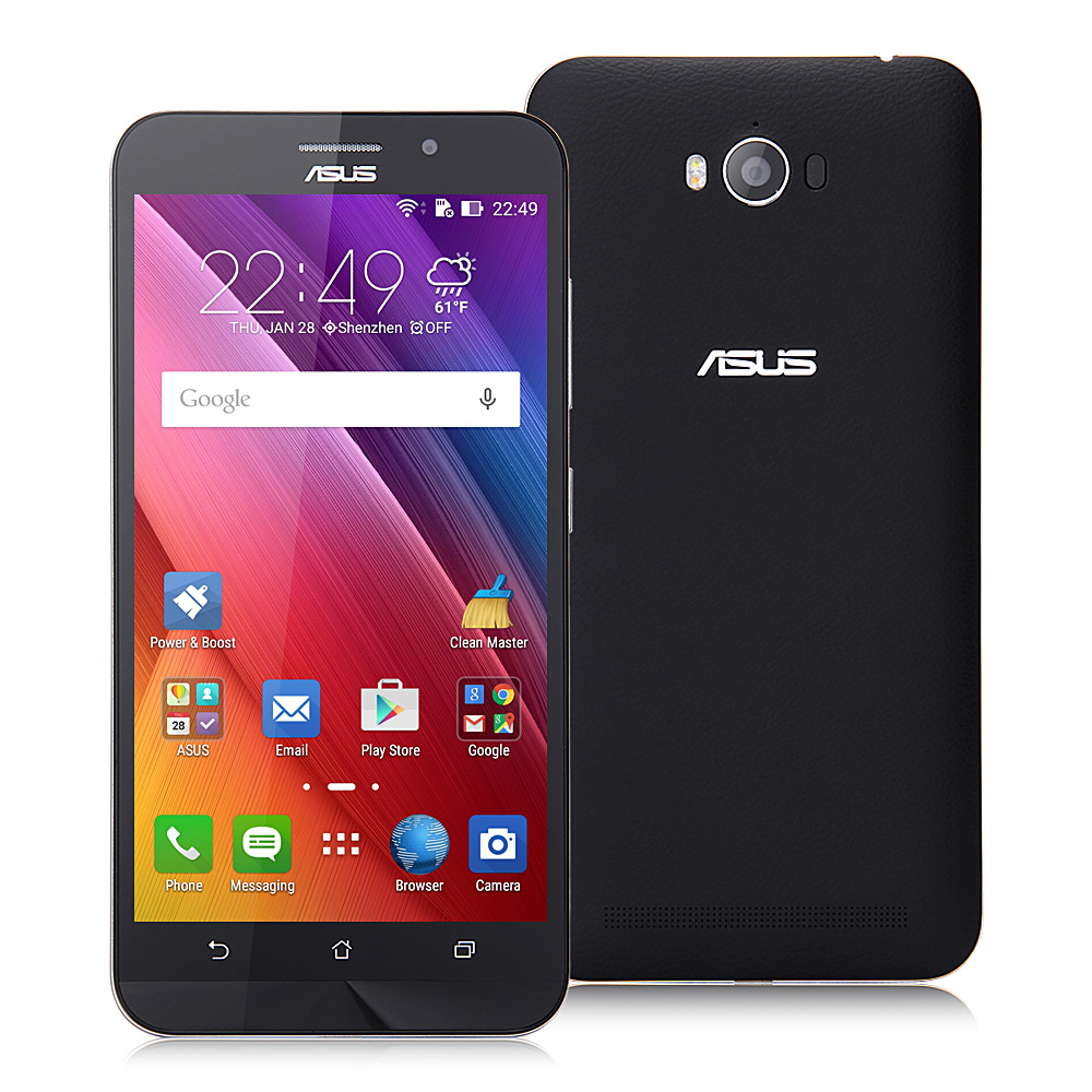 ASUS Zenfone Max Pro 5.5inch 5000mAh Battery 4G LTE Snapdragon MSM8916 Quad Core Smartphone Android 5.0 2GB 32GB 13.0MP OTG - Black