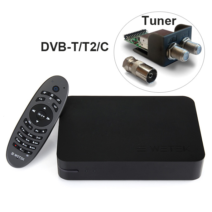 Wetek Play Android Live Tv Streaming Box With Dvb T T2 C Tunner