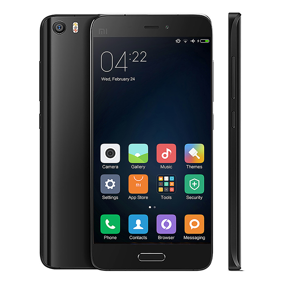 Xiaomi Mi5 5.15inch FHD Android 6.0 OS 3GB 32GB 4G LTE Smartphone 64-Bit Qualcomm Snapdragon 820 Quad Core Type-C 3D Glass Cover - Black