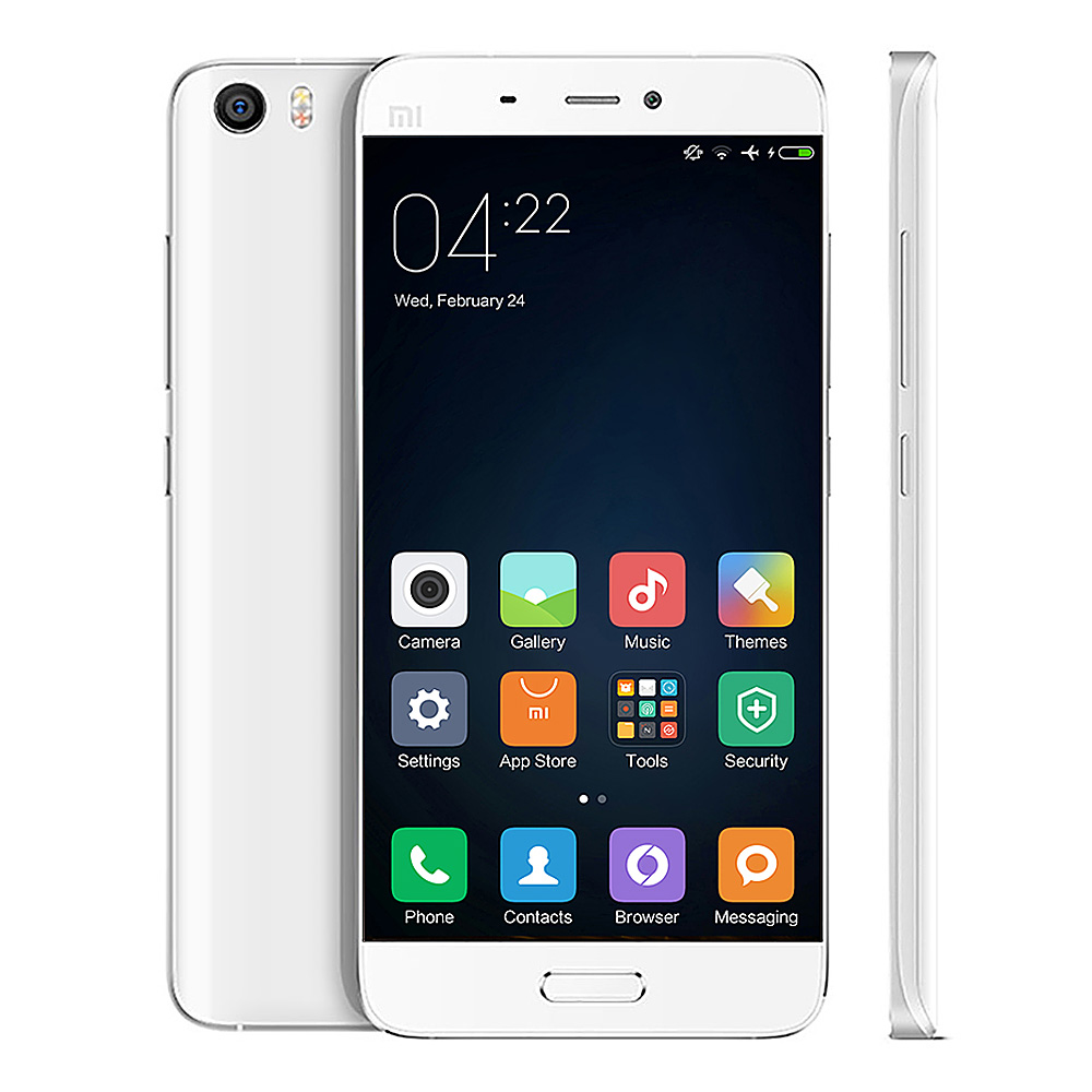 Xiaomi Mi5 5.15inch FHD Android 6.0 OS 3GB 32GB 4G LTE Smartphone 64-Bit Qualcomm Snapdragon 820 Quad Core Type-C 3D Glass Cover - White