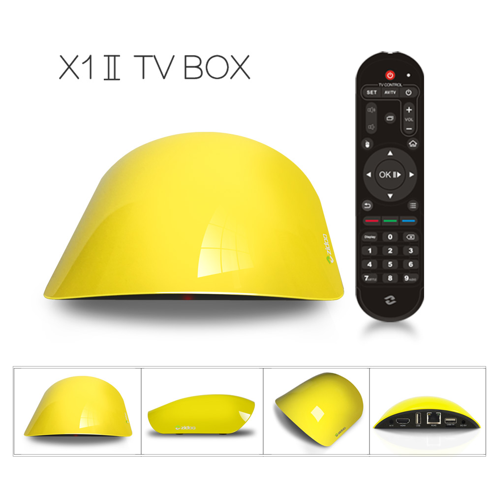 ZIDOO X1 II True 4K RK3229 Bluetooth Media Player Android 4.4 Kodi Preinstalled H.265 10Bit 4K@60fps TV BOX 1GB/8GB WIFI