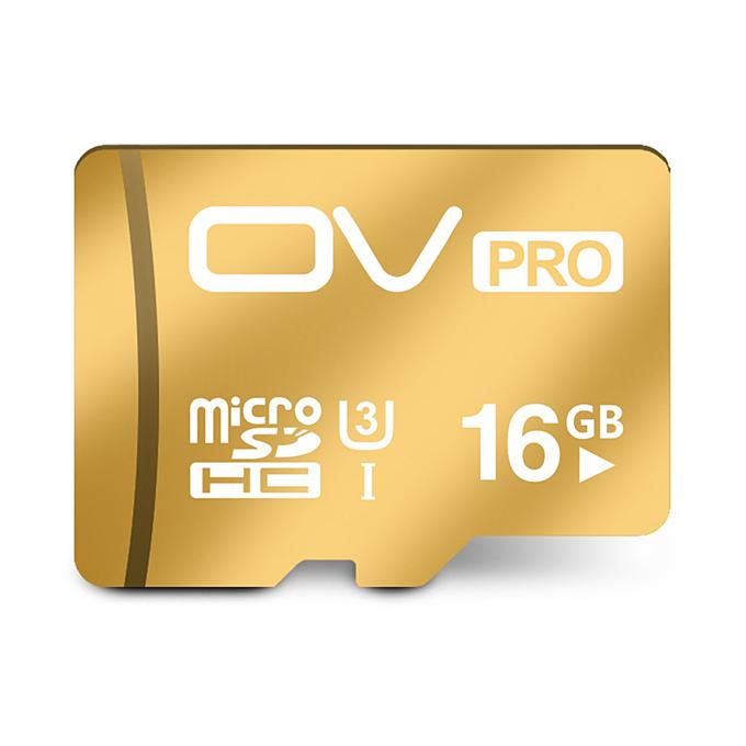 OV UHS-I U3 16GB Micro SD Card TF Card High Speed Mobile Phone Memory Card - Gold