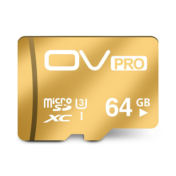 OV UHS-I U3 64GB Micro SD Card TF Card High Speed Mobile Phone Memory Card - Gold
