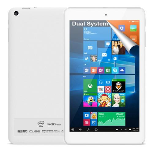 Cube iWork8 Ultimate Dual OS Windows10 + Android5.1 8 inch 2GB/32GB Tablet PC Intel Cherry Trail Z8300 Quad Core 1.84GHz IPS 1280*800 HDMI - White