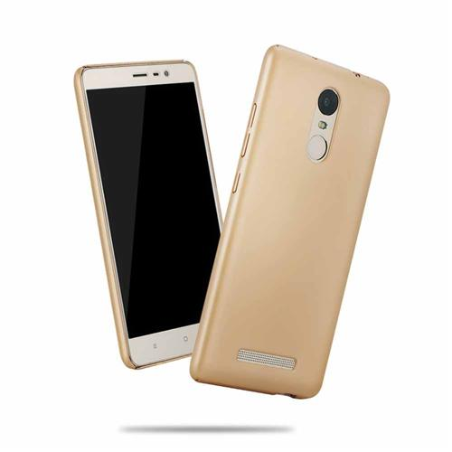Back Case For Xiaomi Redmi Note 3 Ultra-thin Silky Smooth Protective Phone Cover Back Shell - Golden Other