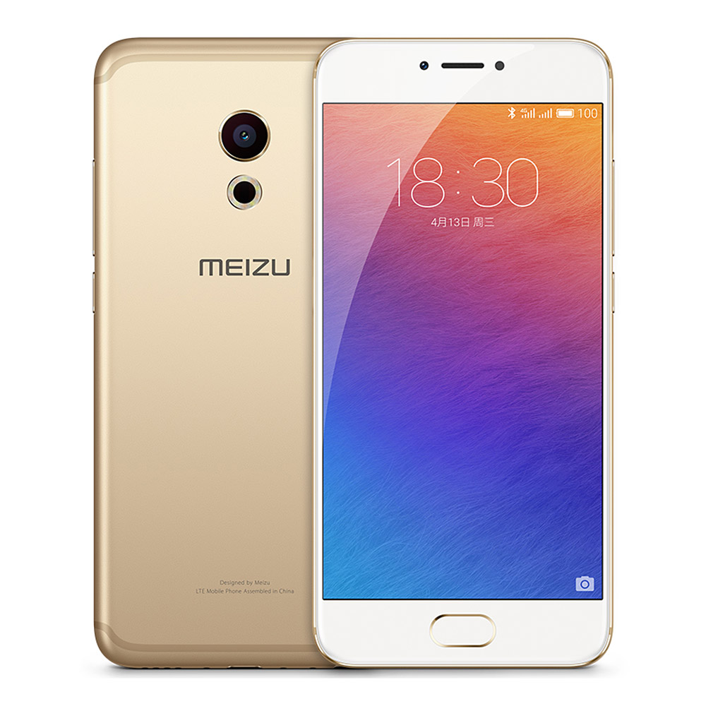 Meizu Pro 6 FHD 5.2 Inch Helio X25 MT6797T Deca Core Smartphone Android 6.0 4GB+32GB 5.0MP+21.16MP HI-FI Touch ID Type-C 3D Press Touch mCharge 3.0 - Gold
