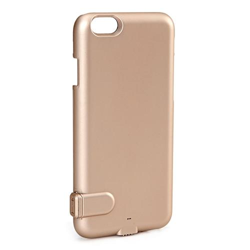 AIYOVI Battary Case External Backup Battery Charger Case Power Bank Ultra Thin Protective Back Cover For iPhone 6 Plus/6S Plus - Gold