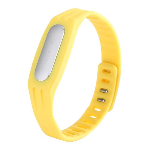 Replaceable TPE Strap for Xiaomi Miband / 1S Mi Bracelets - Yellow