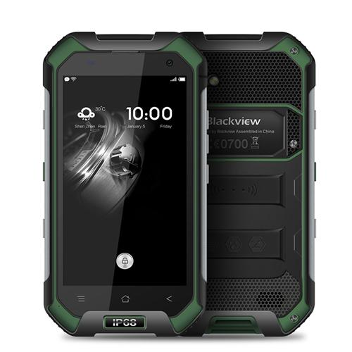 Blackview BV6000 4.7inch HD IP68 Waterproof Shockproof Scratch-proof Rugged Phone MT6755 Octa Core Android 6.0 3GB 32GB 13.0MP NFC Fast Charge - Green
