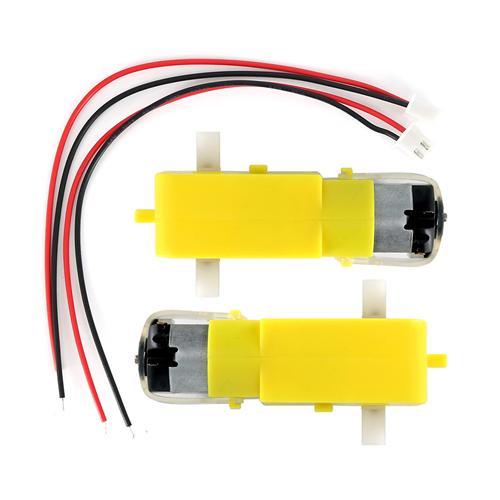 3V-6V DC Gear Motor Large Torque Motor + XH2.54-2P Cable 2Set for Smart Car