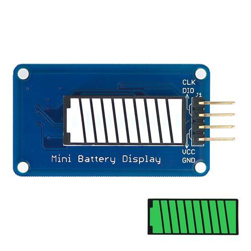 Battery Style Digital Tube Battery Level LED Display Module Green Color 10-segment LED Bar for Arduino