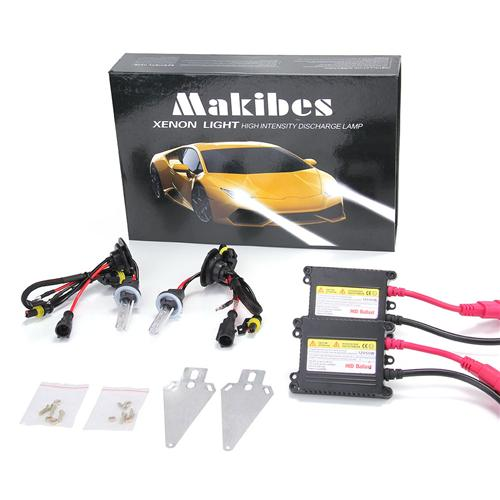 Makibes 6000K 880/881 DC250 55W 12V Xenon HID Kit Car Headlight Xenon Bulb Slim Ballast - Black + Silver