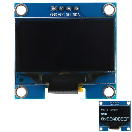 1.3 inches 128x64 White I2C OLED Display Module for Arduino