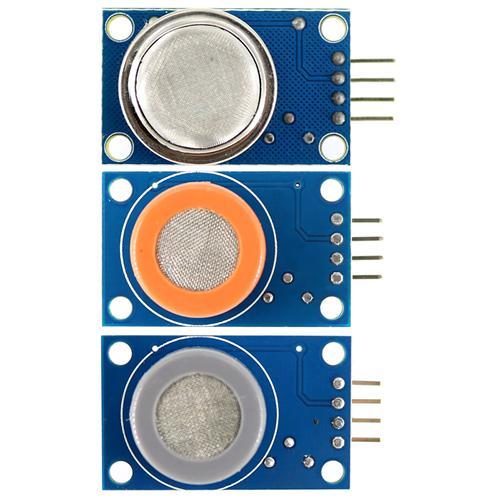 Univerzális gázérzékelő modul készlet w / MQ-2 / MQ-3 / MQ-7 Arduino