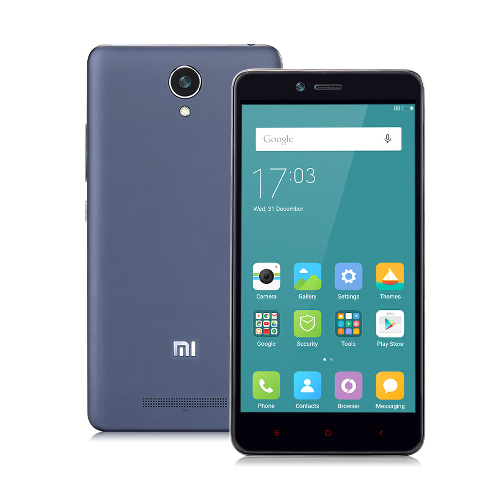 Xiaomi Redmi Note 2 Standard 4G Smartphone 5.5 Inch FHD Screen 2GB 16GB 64bit Helio X10 Octa Core 3060mAh 13.0MP - Gray