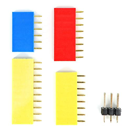 6P + 8P + 10P + 2X3P Gold-plated Female Pin Header Kit for Arduino Board