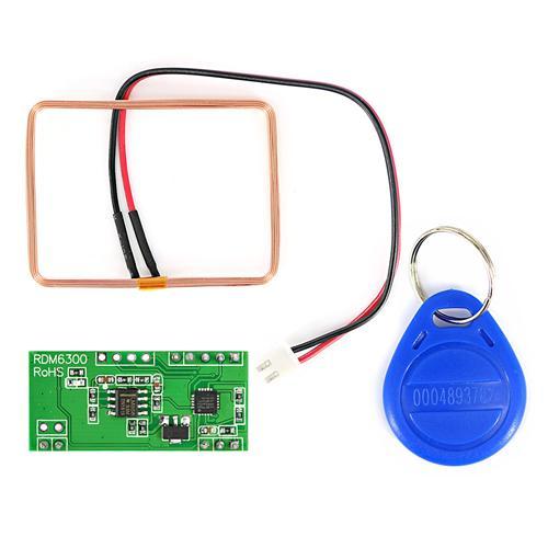 125K Serial UART RFID Card Reader Module w/ Coil / ID Key for Arduino