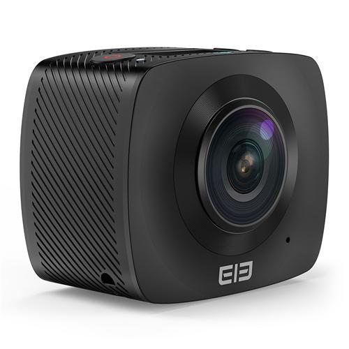 Elephone ELECAM 360 Action Camera Mini VR Camera 360 Degrees SPCA6350M F2.0 Dual Lens OV4689 1080P 30fps Sport Camera - Black