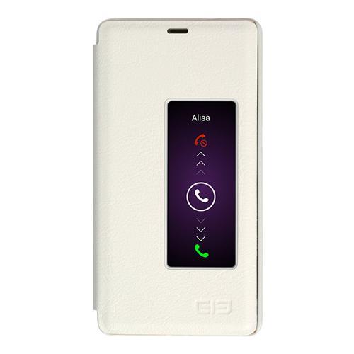 Läderfodral Skyddande PU Läder Hard Flip hölje Telefon Skal För Elephone S3 Smartphone - Vit
