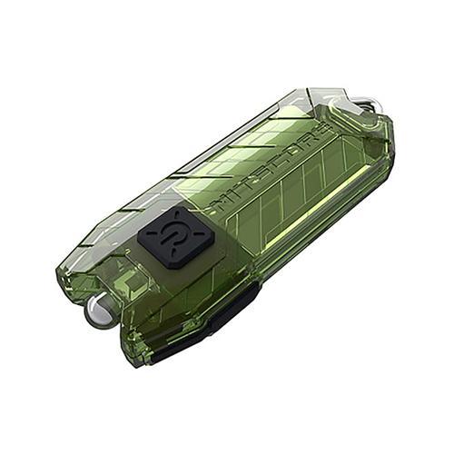 Torcia USB ricaricabile portatile Nitecore 45LM Modalità 2 Luce LED a chiave - Verde