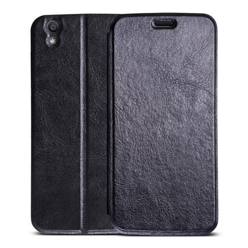 Original Leather Case Smart Flip Cover Protective Standing Phone Holder Case For UMI LONDON Smartphone - Black Other