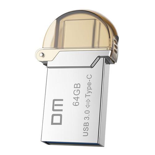 DM PD019 64GBメタルUディスク(USB 3.0&マイクロUSB OTGタイプ-C)3.1デュアルインターフェースフラッシュドライブ - シルバー