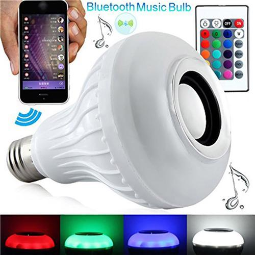 Audio Bulb 6W Lamp RGBW Music for LED Light Control White Bluetooth Playing iOS Android D02 Wireless TS E27 with Remote Speaker IR 45Rjq3AL