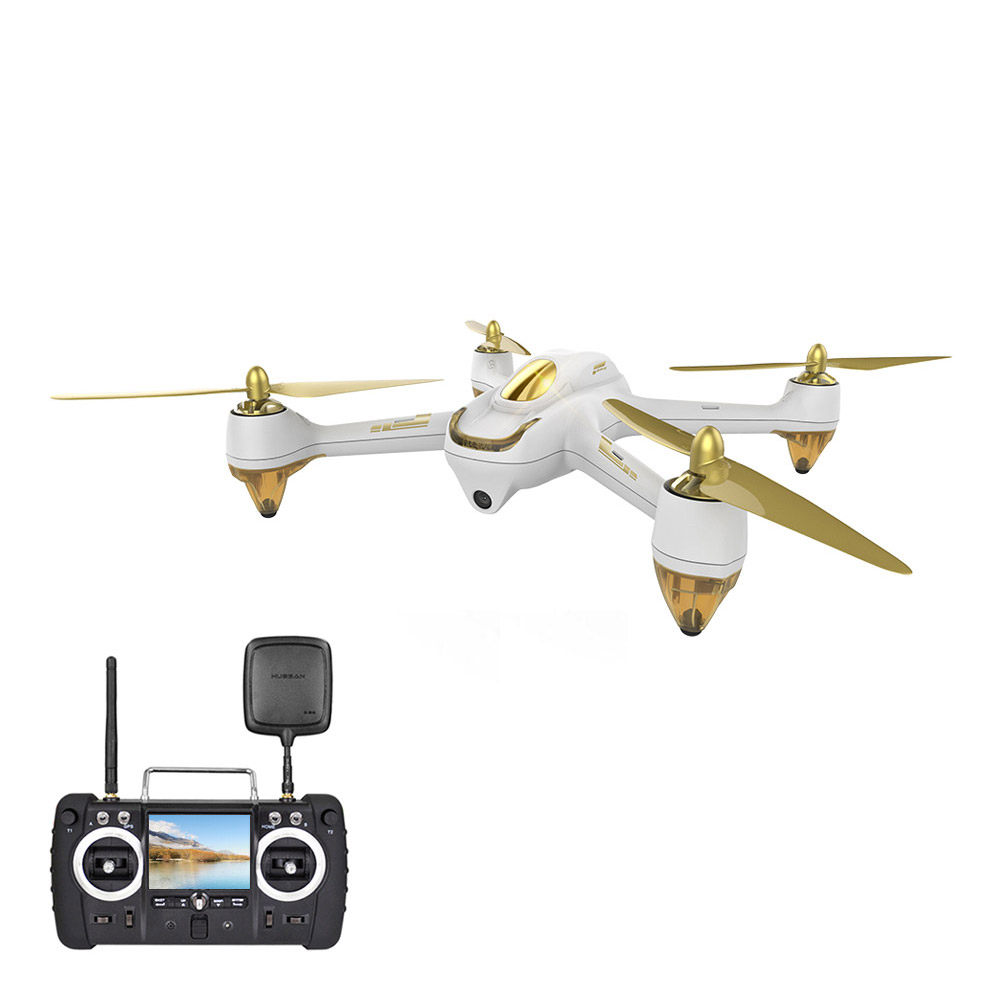 Hubsan H501S High Edition 5.8G FPV senza spazzole con 1080P HD Camera GPS RC Quadcopter RTF - Bianco