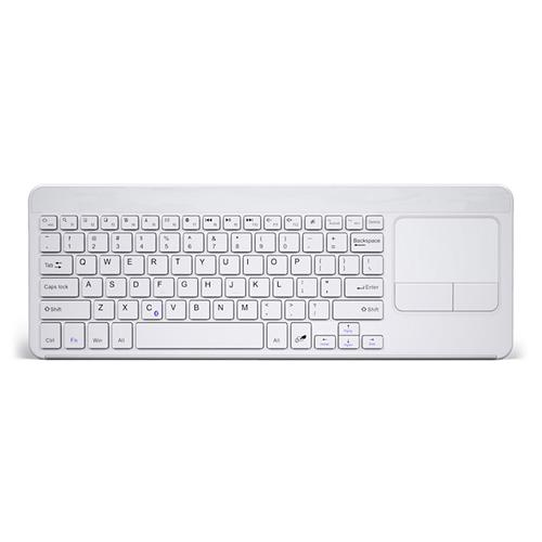 B.O.W Wireless Bluetooth Keyboard with Built-in Multi-touch Touchpad - White