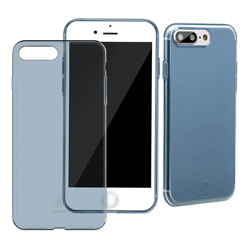 Baseus einfache Fall ultradünne klare weiche TPU Rückseite bunte Mode Fall für iPhone 8 Plus / iPhone 7 Plus 5.5inch - transparent blau