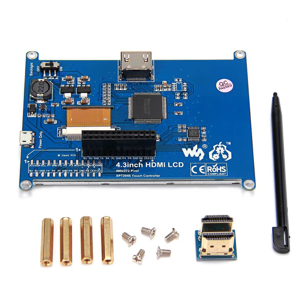 4.3 inch HDMI LCD Screen 480*272 Pixels for Raspberry Pi Model B/B+/Raspberry Pi 2 Model B