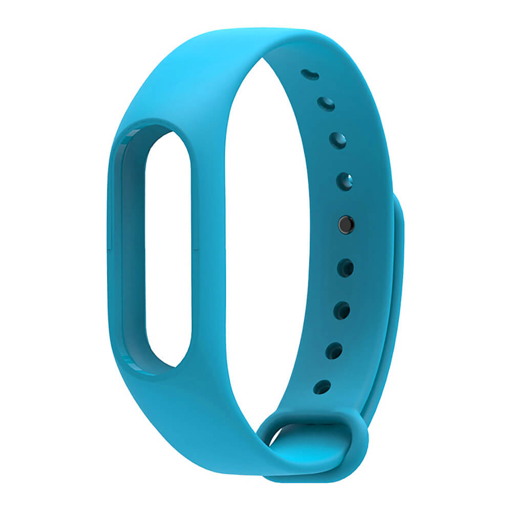 Mijobs Replaceable TPU Wrist Strap for Xiaomi Mi Band 2 Smart Bracelet - Blue