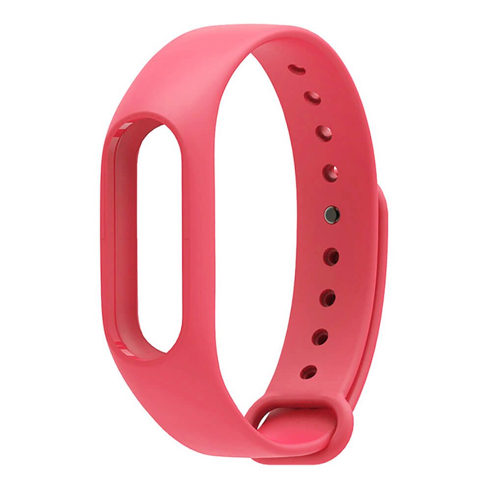Mijobs Replaceable TPU Wrist Strap for Xiaomi Mi Band 2 Smart Bracelet - Red