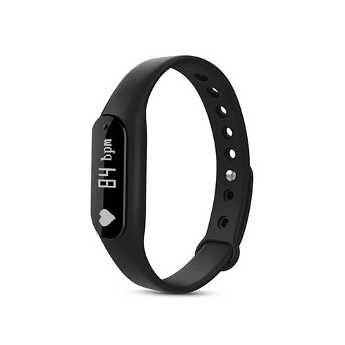 C6 Bluetooth 4.0 Smart Bracelet Heart Rate Monitor Sleep Tracker Call/SMS Reminder Anti-lost IP65 Waterproof For Android iOS - Black