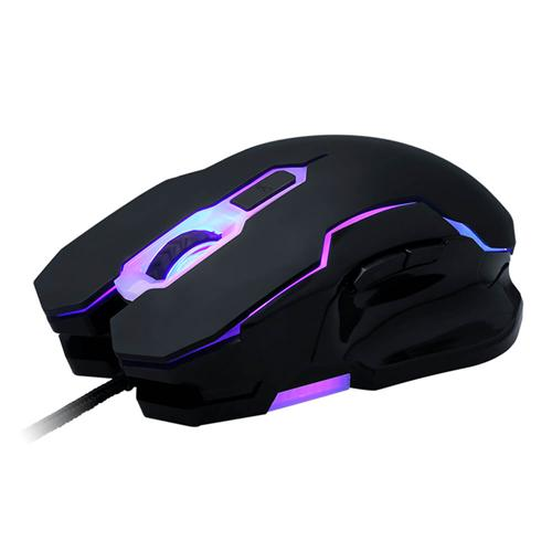 ELE EleEnter Professional USB Wired Gaming Mouse 2400 DPI Ergonomic Design with Colorful Breathing Light - Black