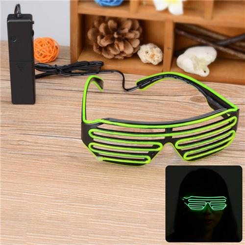 3-Mode Sound Control Flashing LED-Brille mit Controller für Party / Konzert / Dancing - Green