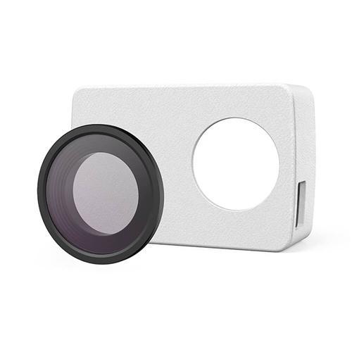 オリジナルの保護レザーカバー+ Xiaoyi YI 4KのみのUVレンズカバー - 白