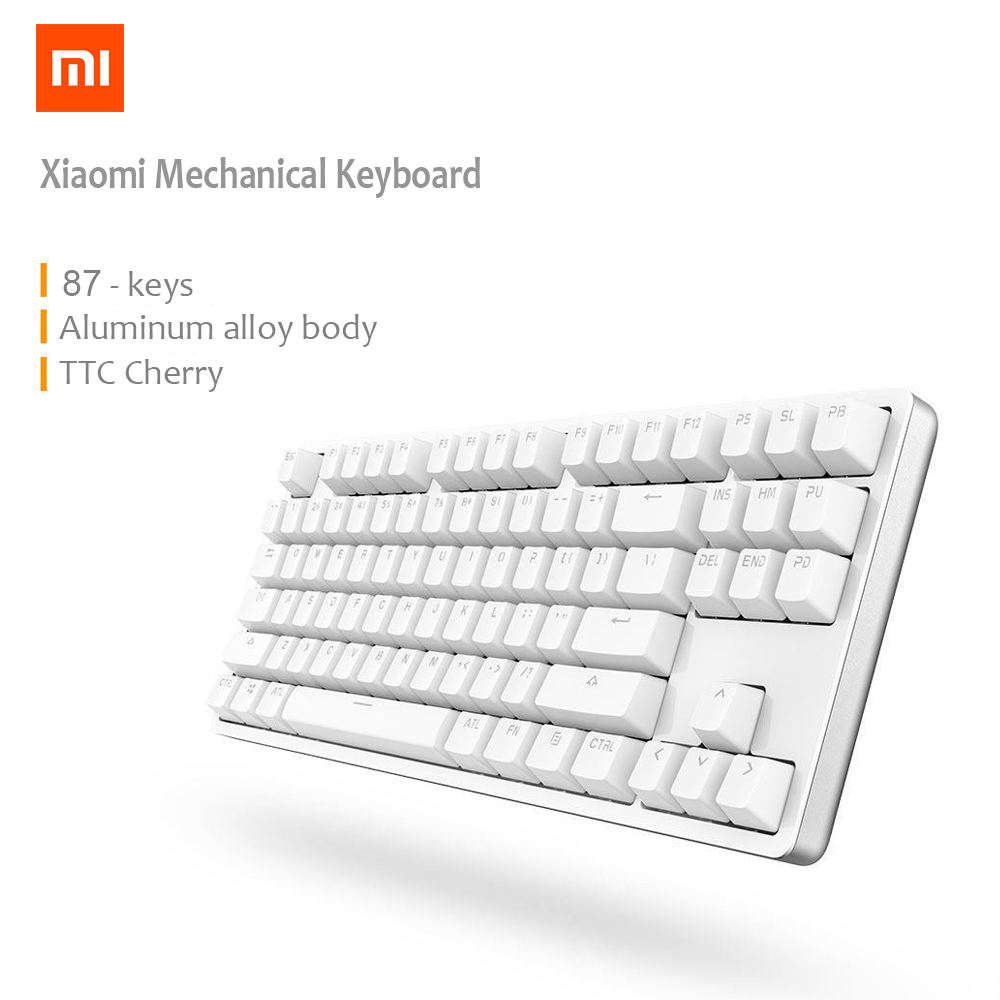 XIAOMI Mi Mechanical Keyboard 87 Keys Gaming Keyboard with Cherry Red Switches and LED Backlit - White