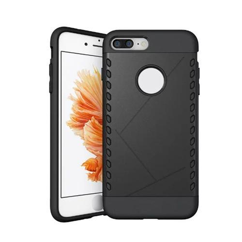 Custodia protettiva per custodia protettiva Shockproof Cover Back-Cover per iPhone 8 Plus / iPhone 7 Plus - Nero