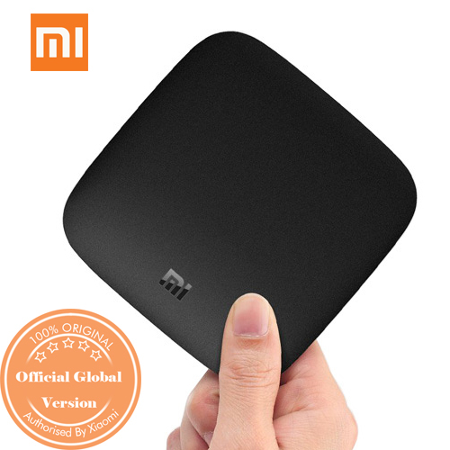XIAOMI 4K Mi Box Android TV 8.0 Oreo Set-top Box Netflix 4K Streaming H.265 VP9 HDR Video Dolby DTS Certified International Version