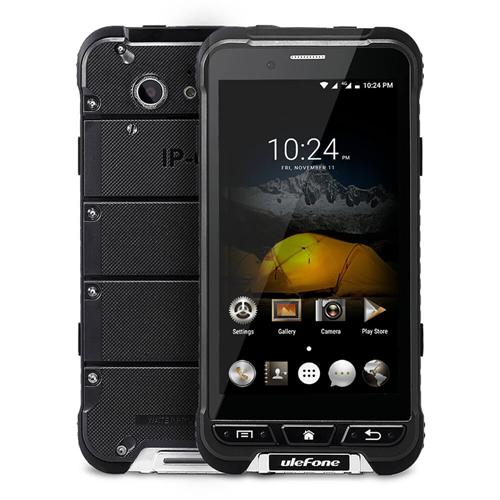 Ulefone ARMOR IP68 Waterproof 4.7-inch HD Android 6.0 Rugged Smartphone 3GB 32GB MT6753 Octa Core 13.0MP GPS SOS OTG NFC- Black
