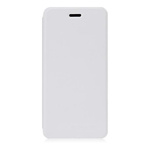 Leather Case Ultra-thin Shockproof Protective Flip Cover Litchi Pattern Standing Phone Holder For Vernee Mars - White фото