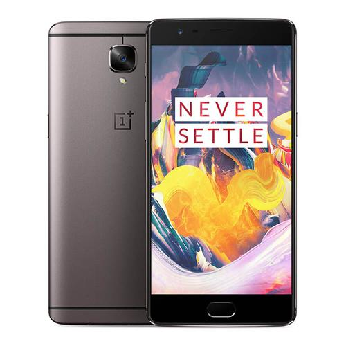 OnePlus 3T(A3003) 5.5inch AMOLED FHD Oxygen OS Smartphone Qualcomm Snapdragon 821 2.35GHz Quad Core 6GB 64GB 16.0MP+16.0MP Dash Charge Touch ID NFC Type-C EU Version - Gunmetal