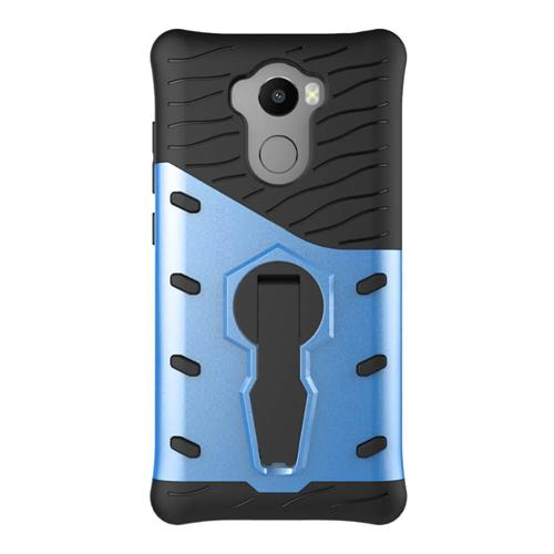 Armatura Serie Custodia Custodia protettiva 360 Grado di supporto rotante per Xiaomi Redmi 4 / 4 Pro- Blu