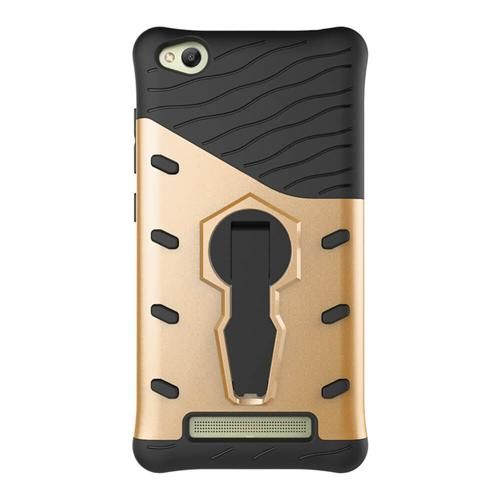 Armour Series Protective Phone Case 360 Degree Rotating Bracket Stand Cover For Xiaomi Redmi 4A - Gold Other