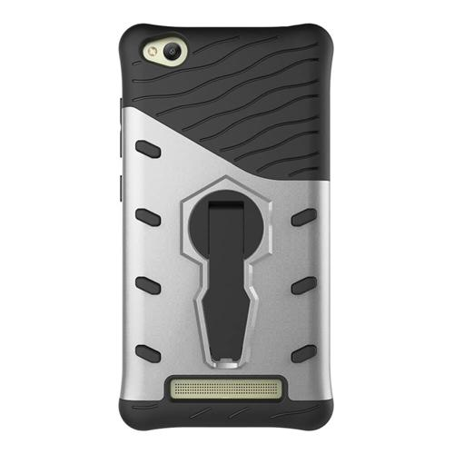 Armour Series Protective Phone Case 360 Degree Rotating Bracket Stand Cover For Xiaomi Redmi 4A - Silver фото
