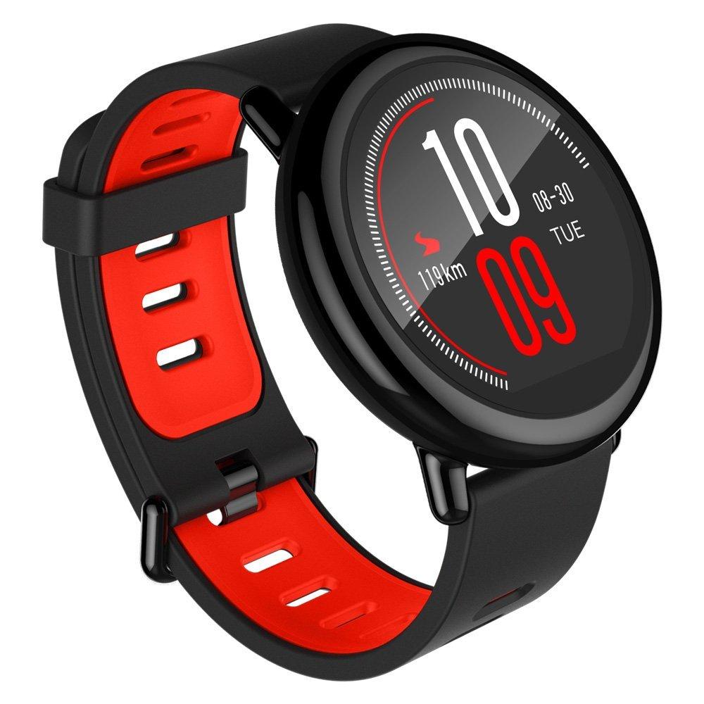 XIAOMI HUAMI AMAZFIT Pace الذكية ووتش الرياضة دعم Strava بلوتوث 4.0 واي فاي ثنائي النواة 1.2GHz 512MB RAM 4GB ROM GPS رصد معدل ضربات القلب معلومات دفع العالمي ROM - أسود