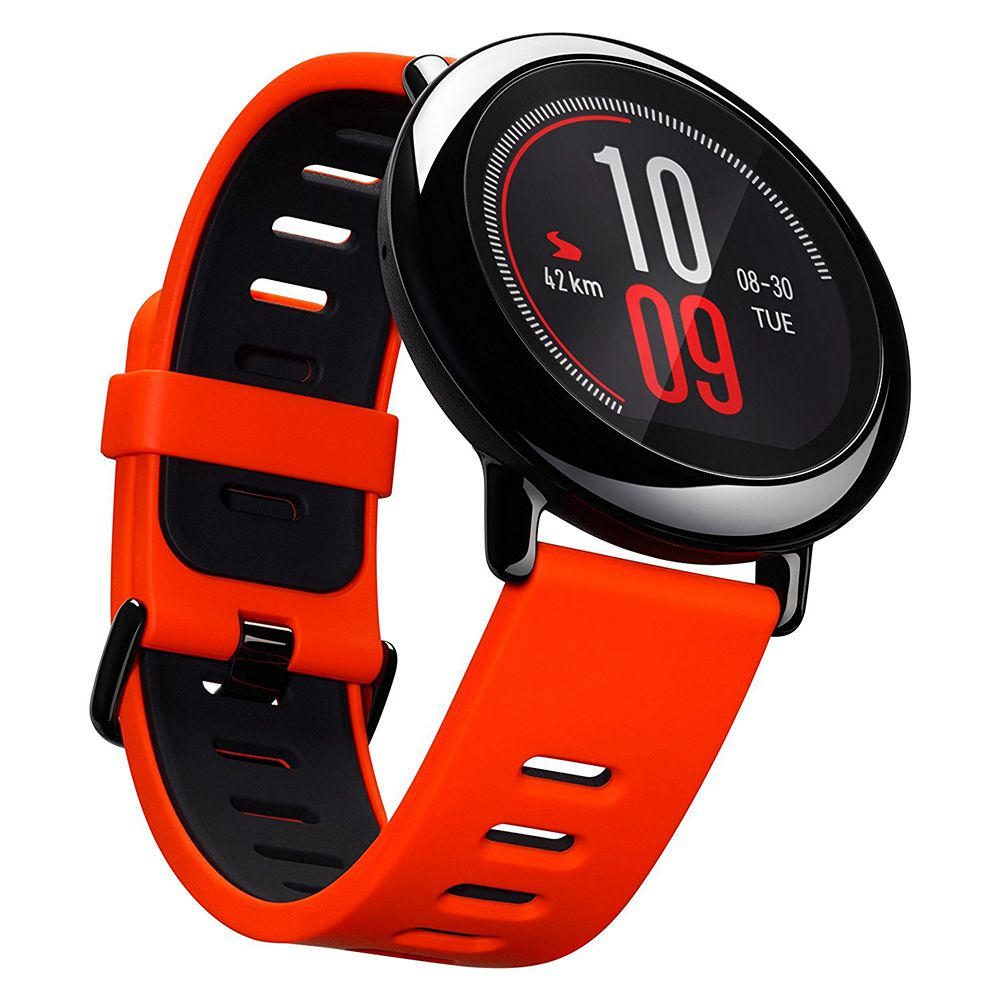 English Version) Xiaomi HUAMI AMAZFIT Pace Smart Sports Watch Support Strava Bluetooth 4.0 WiFi Dual Core 1.2GHz 512MB RAM 4GB ROM GPS Heart Rate Monitor Info Push - Red